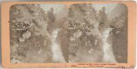 Gouffre Del Pont Joseph Francia Foto J.Andrieu Stereo Vintage Albumina c1868