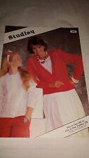Vintage/Retro Knitting Pattern Studley  Cardigans 450