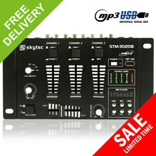 More details for skytec 6 channel dj compact mixer usb mp3 player karaoke pa party disco mobile