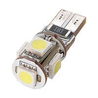 10pcs Free Error de Canbus T10 194 168 W5W 501 5050 5 SMD LED de luz blanca W5R8