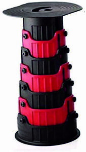 Red Telescopic Camping Stool Multi Purpose Home Stepstool Foldable Collapsible