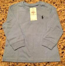 NEW! RALPH LAUREN POLO BABY COTTON JERSEY CREWNECK TSHIRT 12M 12 MONTH BABY BLUE