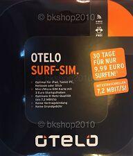 otelo Surf-SIM-Karte, 30 Tage für nur 9,99€ surfen, Prepaid, Vodafone, 3€ Guth.