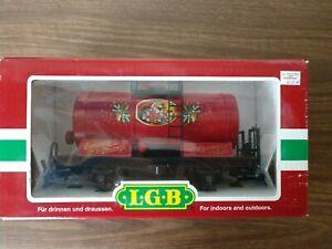 LGB #47400 RED CHRISTMAS TANK CAR WITH SANTA CLAUS