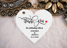 10 White Gift Tags Wedding Favour Bomboniere Personalised Thank You Celebrating