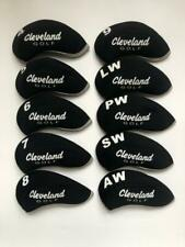 10PCS Protective Iron Covers for Cleveland Club Headcovers 4-LW Black&Black SETS