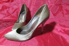Glamour Puss Gold Satin Diamante Heels Sz.39 Stiletto/Heels Evening/Formal/Party