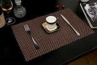 Placemats Set of 4 PVC Woven Heat Insulation Kitchen Dining Table Mats Washable