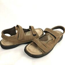 Nunn Bush Men Sandals Sz 13 M Open Toe Fisherman Brown Suede Leather Cushion New