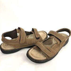 Nunn Bush Men Sandals Sz 13 M Open Toe Fisherman Brown Suede Leather Cushion New