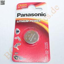 2 x CR2025 Lithium Power Batterie 20mm 2.5mm 3V  Panasonic Knopfzelle 2pcs