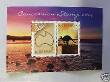 2014 Rare MUH Australian Decimal concession stamp gummed mini sheet