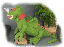 CLARENCE THE DRAGON toy knitting pattern by Georgina Manvell