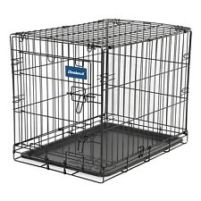"Doskocil 24"" Medium Pet Dog Cage W/ Tray & Single Door Folding Kennel Crate"