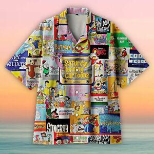 Amazing Saturday Morning Cartoons Hawaiian Shirt Full Size S-5XL