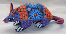 Ceramic Clay Armadillo Figurine Hand-painted Mexican Folk Art Neat Gift Idea A15