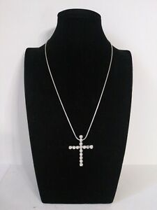 CROSS made with Swarovski Crystal God Lord Jesus Christ Charm Religious Necklace