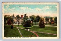 Chambersburg PA Campus View, Wilson College, Vintage Pennsylvania Postcard