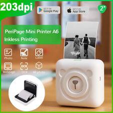 Mini tragbar Thermodrucker für Smartphone Handy Fotodrucker mit 9 Roll Paper USB