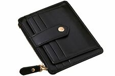 Vlike Mini slim Credit Card Case Wallet with ID Window and Zipper Thin Holder