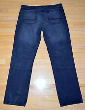 "W 42"" x 34 "" FOUNDRY Men's Denim relaxed black straight Jeans 100% cotton"