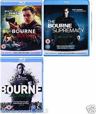 JASON BOURNE COLLECTION TRILOGY Blu Ray 3 Movies Identity Supremacy Ultimatum UK