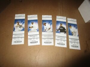 August 25 2011 New York Yankees Baseball Ticket Lot (5) Beat A's in game 22-9