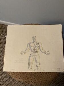 The X-Men Animation Cel Sketch Cyclops