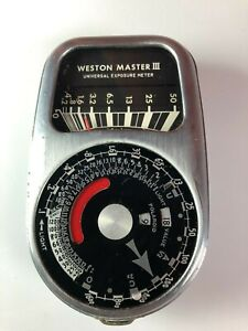 Weston Model 737 Master III Universal Exposure Light Meter With Leather Case