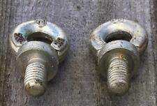 PACK OF 2 x M12 LIFTING EYE BOLTS WITH NUTS & WASHERS GALVANISED 400kg 0.4t SWL