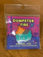 Dumpster Fire 100% Soft Enamel Pin Launch Party Exclusive Dumpster Fire ~ NEW