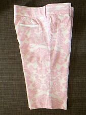 368£!CURRENT COLLECTION JUICY COUTURE PINK DAMASK FLOWER CROPPED TROUSERS