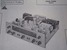 FISHER 500-S TUNER RECEIVER PHOTOFACT