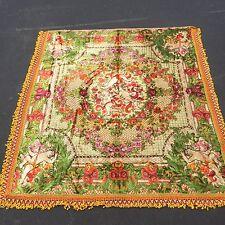 "HUGE 88""x76"" Vintage Victorian Cherubs Tapestry Bedspread Duvet Wall Hanging"