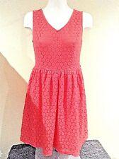 NEW LOOK Rrp £22.99 Orange Lacy Dress Size12