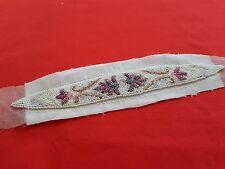 Travail de perles sac minaudière application création bande perles -  12627