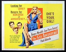 GAY ADVENTURE 1949 Burgess Meredith Jean-Pierre Aumont Paula Valenska 4 LOBBIES