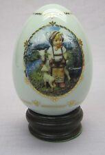 """M.J. Hummel Porcelain Egg from Danbury Mint 1994 """"Little Goatherder"""""""