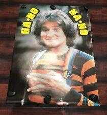 Vintage 1979 Robin Williams Poster, Mork & Mindy, Na No