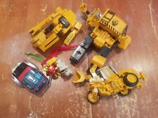 Lot of Transformers Parts and Pieces Devastator Future Machine