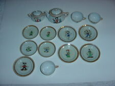Rare 14 Piece Betty Boop Leischer Studio Tea Set C. 1930'S Japan