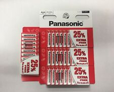 40 x pilas AAA Genuino Panasonic Zinc Carbono-nuevo vencimiento de R03 1.5 V 02/2020