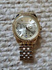 Michael Kors MK5556 Lexington Stainless Steel Gold Dial Analog Watch
