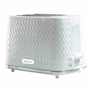 Daewoo Argyle 2 Slice Toaster 800W High Lift Reheat Defrost Large Slice White