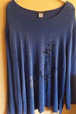 Citiknits Shirt blau Gr. XL - Asiatisches Motiv