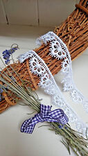 """25mm/1"""" White Butterfly Scalloped Edge Guipure Lace Trim *FREE 1ST CLASS POSTAGE"""