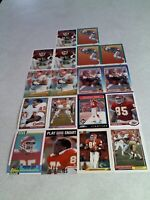 *****Jonathan Hayes*****  Lot of 36 cards.....17 DIFFERENT / Football