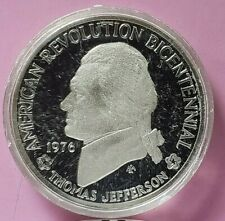 1976 BICENTENIAL COMMEMORATIVE STERLING SILVER PROOF COIN. THOMAS JEFFERSON