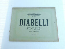 Partition ancienne DIABELLI SONATEN No 2443b Editions Peters ref 454R