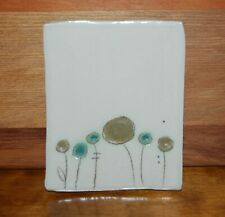 Original Signed Suzanne Babineau Spring Series Small Footed Pottery Plate